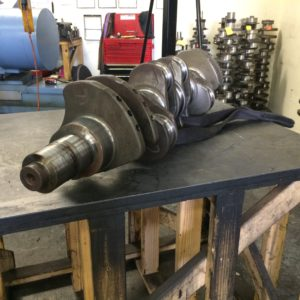 Crankshaft waiting to be ground