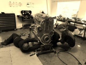 Detroit Diesel 14.0 L Engine In Process