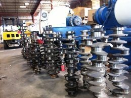 Remanufactured C11 Caterpillar Crankshaft Stacked