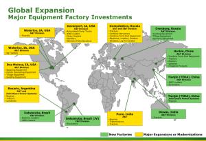 John Deere Global Expansion Map