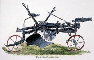 John Deere Riding Plow Figure