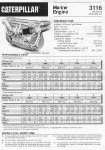 CAT 3116 Engine Spec Sheet