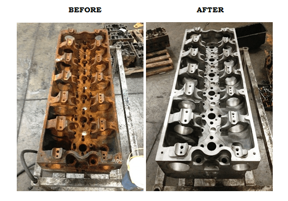 Reman Heads Before and After