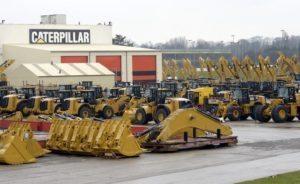 CAT Equipment In Rows
