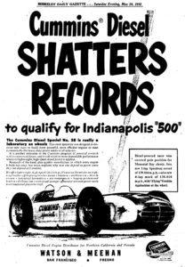 Cummins Indianapolis 500 Poster