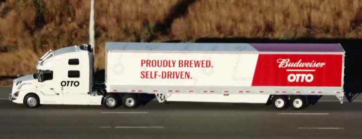 Self Driving Uber Budweiser Truck